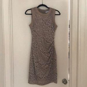 Calvin Klein lace overlay dress